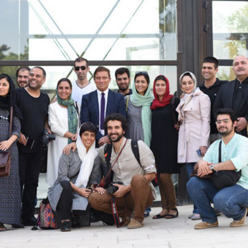 Alberto Campo Baeza with professor Farhad Azarmi and young Iranian Architects, Tehran, august 2015