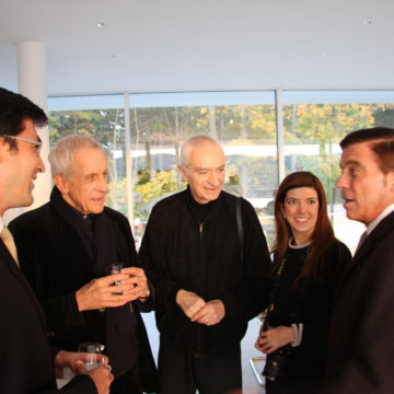 Alberto Campo Baeza with Kenneth Frampton, Massimo Vignelli, Beatriz Cifuentes and Yoshi Waterhouse, Garrison, New York, 2008