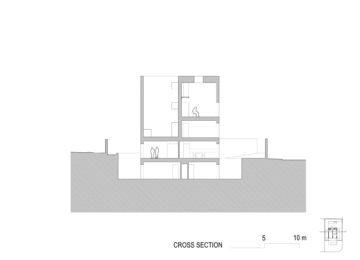 Longitudinal section. Raumplan House