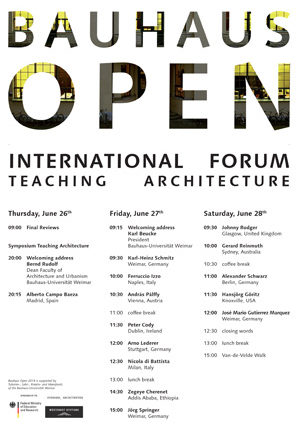 Bauhaus Open. International forum teaching architecture