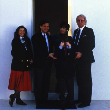 Alberto Campo Baeza with Richard Meier, Fuensanta Nieto and A. Sánchez - Turégano House, Madrid 1979