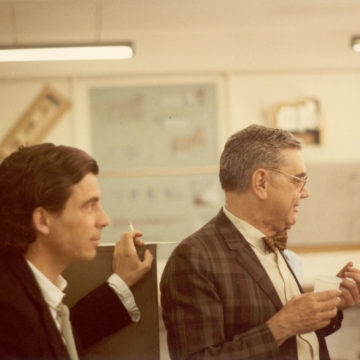 Alberto Campo Baeza with Javier Carvajal at ETSAM UPM, Madrid, 1988