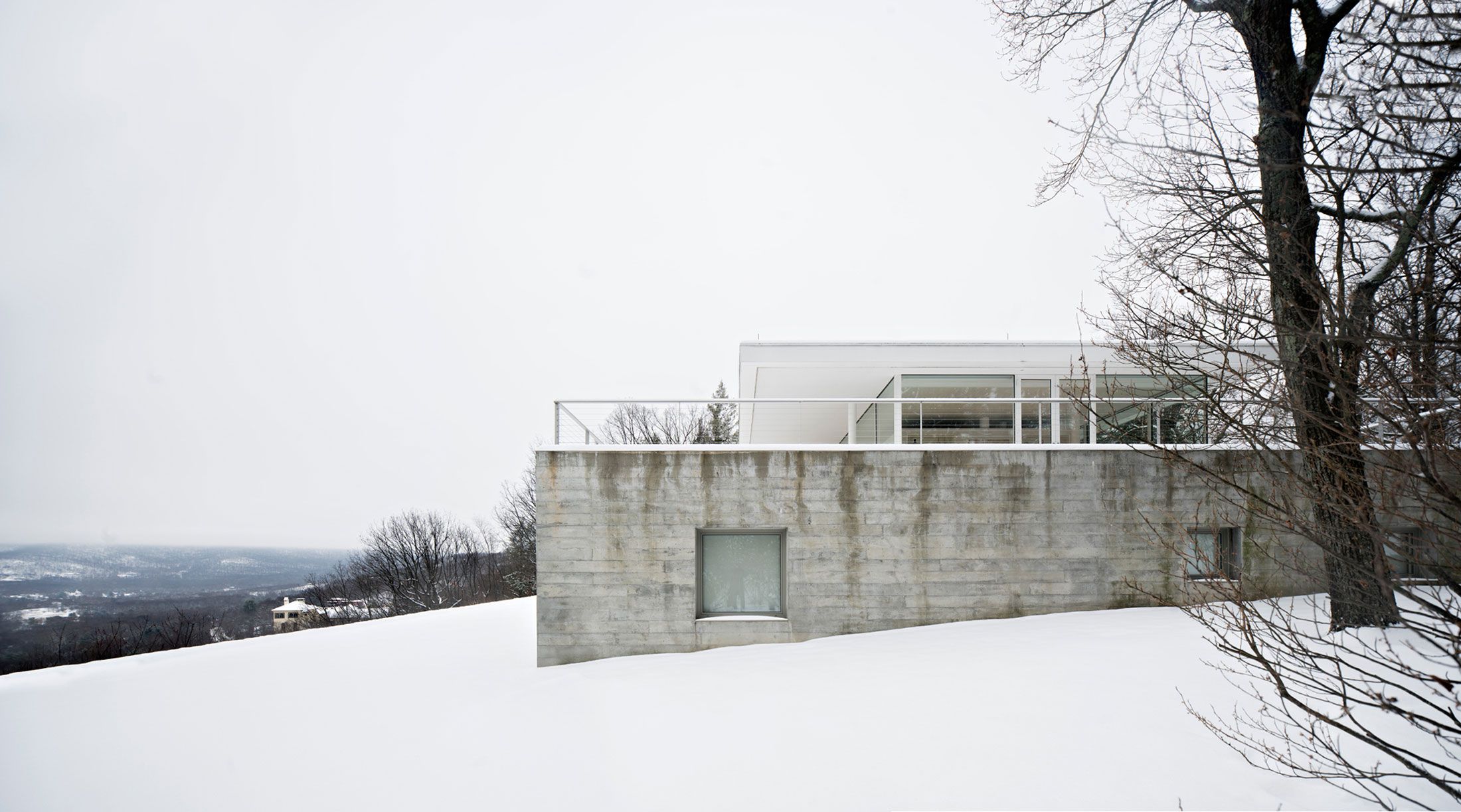 Photography of Olnick Spanu House with snow