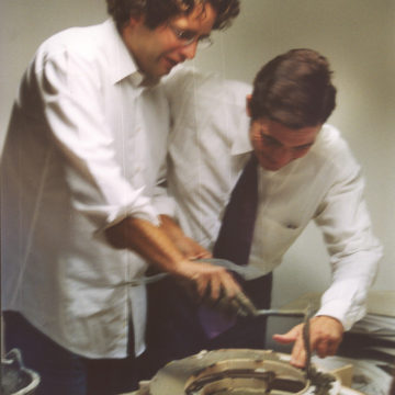 Alberto Campo Baeza with Alberto Morell, Office in Madrid, 2002