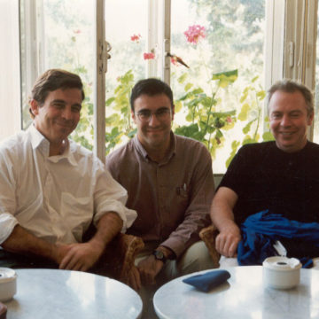 Alberto Campo Baeza with David Chipperfield and Jesus Donaire, 1997