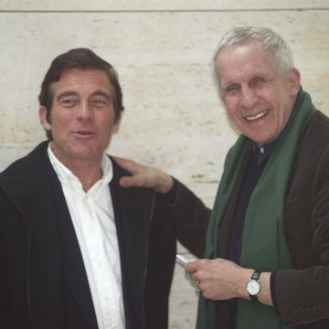 Alberto Campo Baeza with Kenneth Frampton at Caja Granada, Granada, 2003