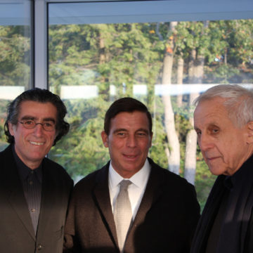 Alberto Campo Baeza with Giorgio Spanu and Kenneth Frampton, Garrison, NY, 2008