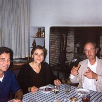Alberto Campo Baeza with Mary Miss and K Gullichsen, Muratsalo, 1994