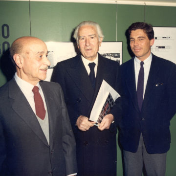 Alberto Campo Baeza with Miguel Fisac and Julio Cano Lasso, Madrid, 1990