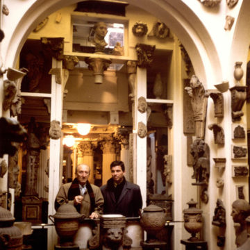 Alberto Campo Baeza with Sáenz de Oiza in Soane house, 13th Lincolns Inn fields, London 1991
