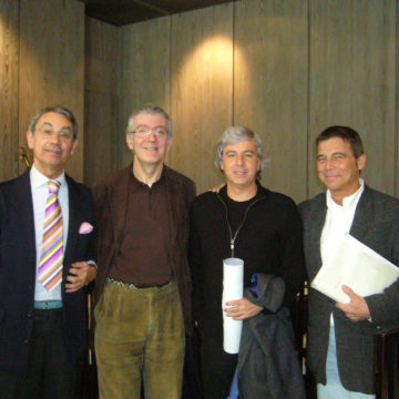 Alberto Campo Baeza with Ignacio Vicens, Paulo David and Jose Ignacio Linazasoro , Madrid, 2009