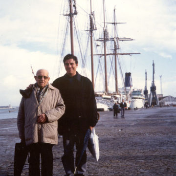 Alberto Campo Baeza with Juvencio Campo, his father, Cadiz, 2000.