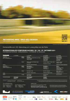 """Poster lecture """"Rethinking Mies"""""""