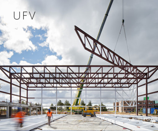 UFV Sport pavillion under construction, 2016