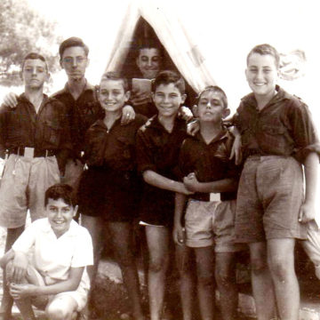 Alberto Campo Baeza with his friends in a summer camp, 1958