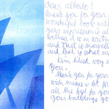 Letter from Jorn Utzon, 2000