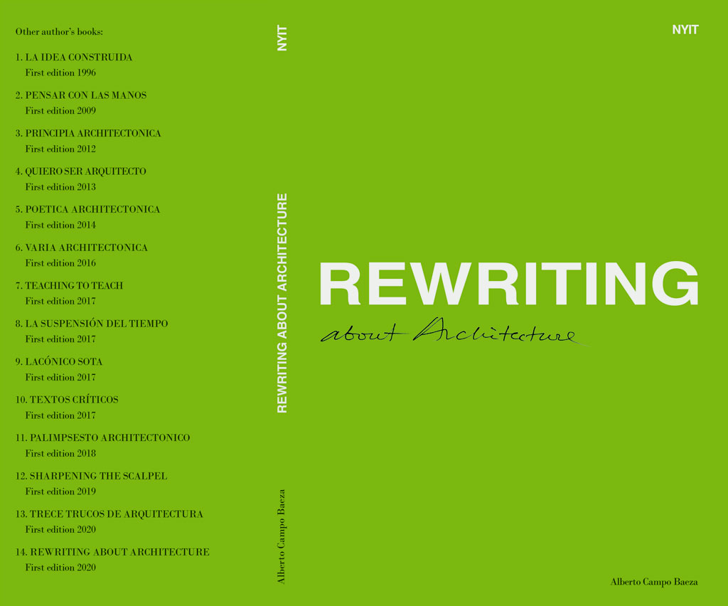 Libro Rewriting about architecture